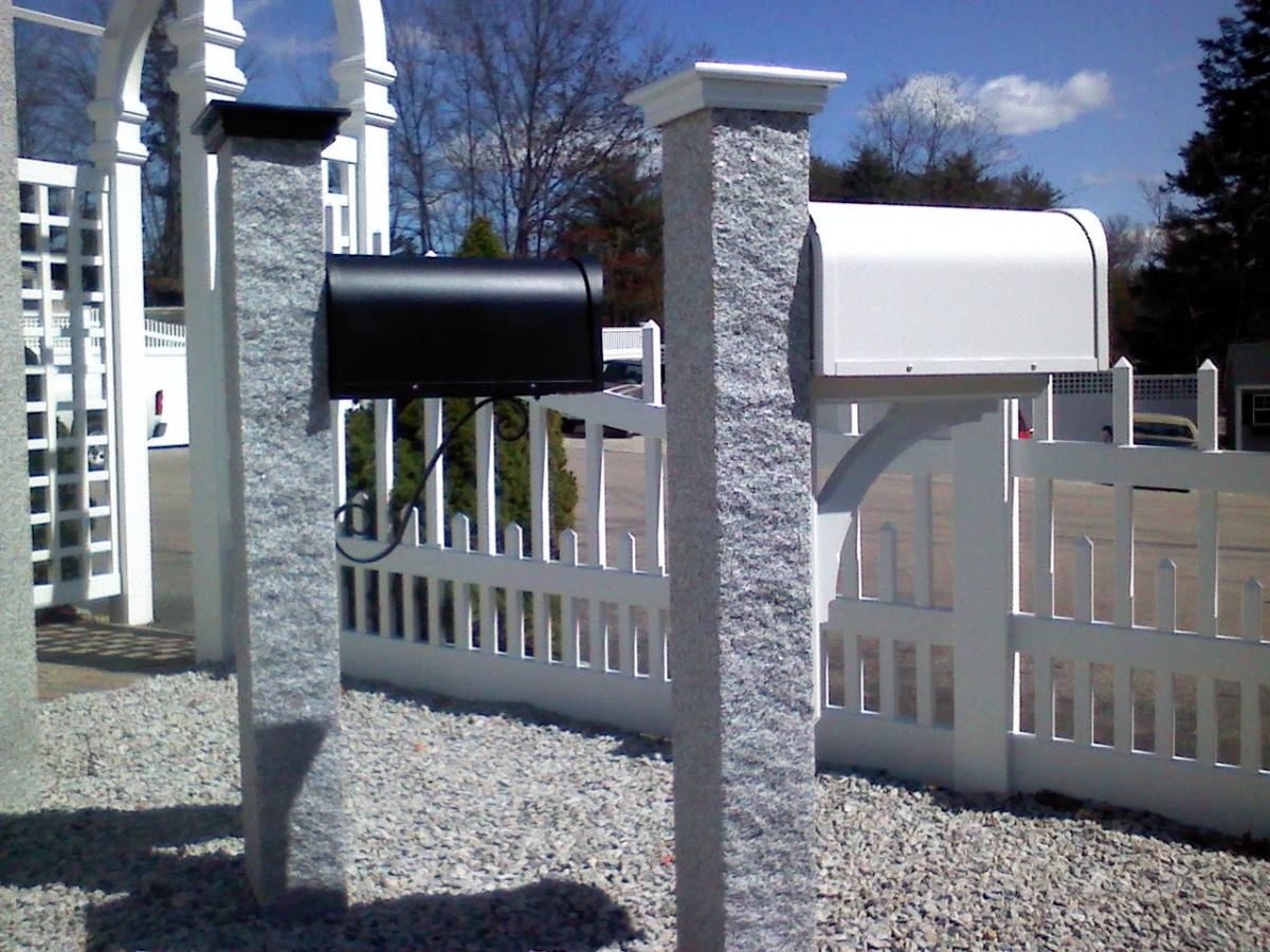 Mailbox Lamp Post And Arbors Mr Fence Of Cape Cod